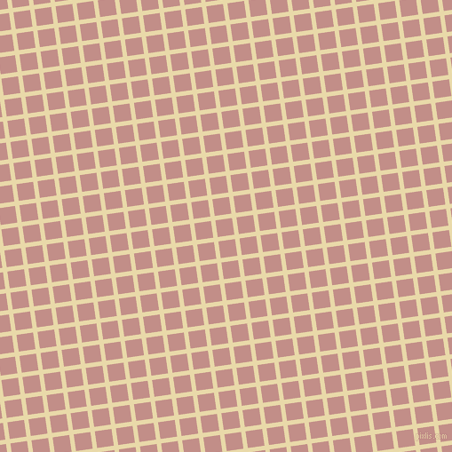 8/98 degree angle diagonal checkered chequered lines, 5 pixel lines width, 19 pixel square size, Sidecar and Oriental Pink plaid checkered seamless tileable