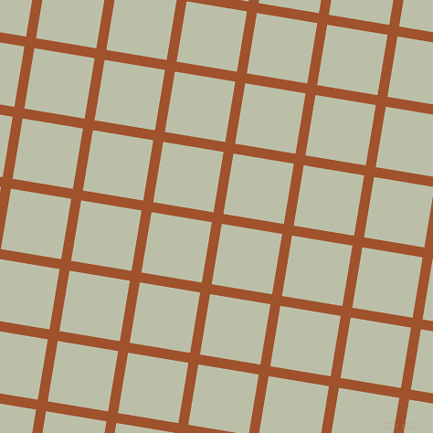 81/171 degree angle diagonal checkered chequered lines, 11 pixel line width, 67 pixel square size, Sienna and Beryl Green plaid checkered seamless tileable