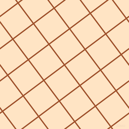 37/127 degree angle diagonal checkered chequered lines, 5 pixel lines width, 97 pixel square size, Sienna and Bisque plaid checkered seamless tileable