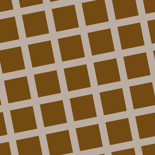 11/101 degree angle diagonal checkered chequered lines, 25 pixel lines width, 80 pixel square size, Silk and Raw Umber plaid checkered seamless tileable