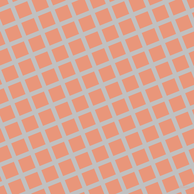 22/112 degree angle diagonal checkered chequered lines, 15 pixel lines width, 46 pixel square size, Silver and Dark Salmon plaid checkered seamless tileable