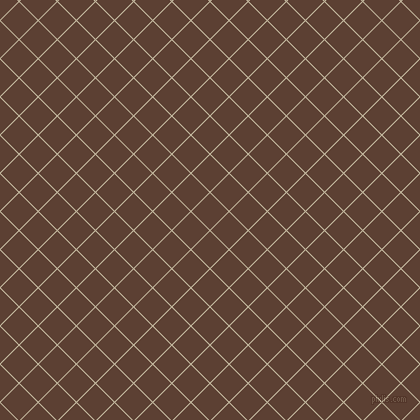 45/135 degree angle diagonal checkered chequered lines, 1 pixel line width, 26 pixel square size, Sisal and Very Dark Brown plaid checkered seamless tileable