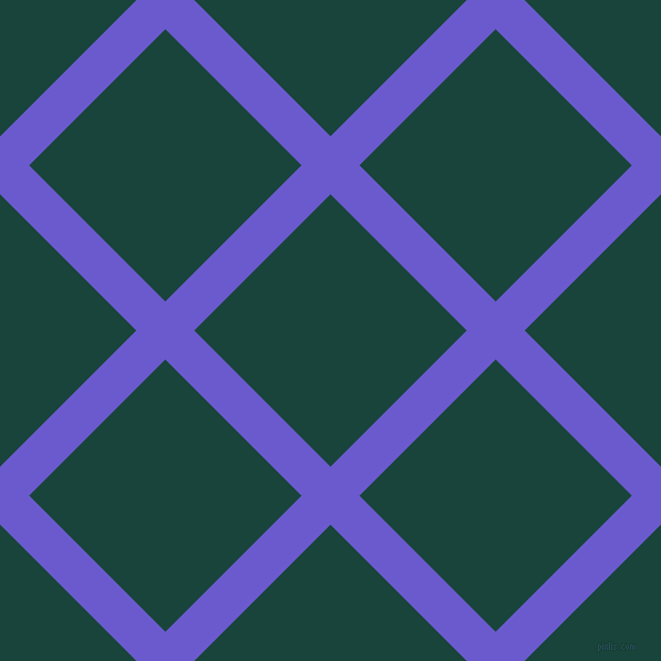 45/135 degree angle diagonal checkered chequered lines, 37 pixel lines width, 174 pixel square size, Slate Blue and Deep Teal plaid checkered seamless tileable