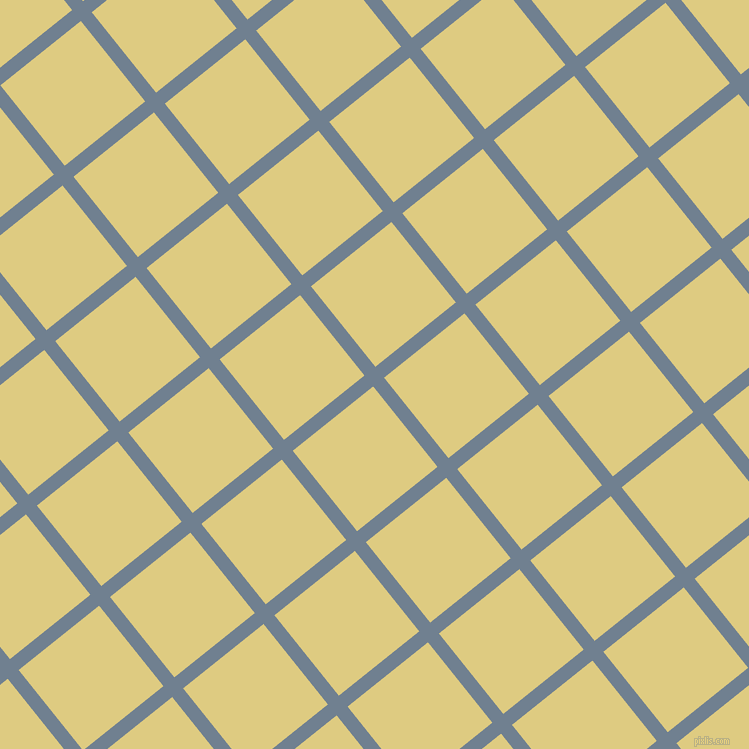 39/129 degree angle diagonal checkered chequered lines, 14 pixel line width, 103 pixel square size, Slate Grey and Sandwisp plaid checkered seamless tileable