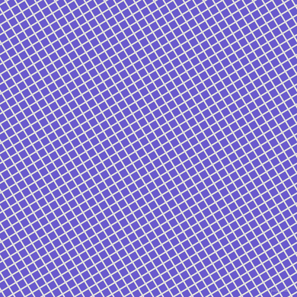 31/121 degree angle diagonal checkered chequered lines, 3 pixel line width, 14 pixel square size, Snow Drift and Slate Blue plaid checkered seamless tileable