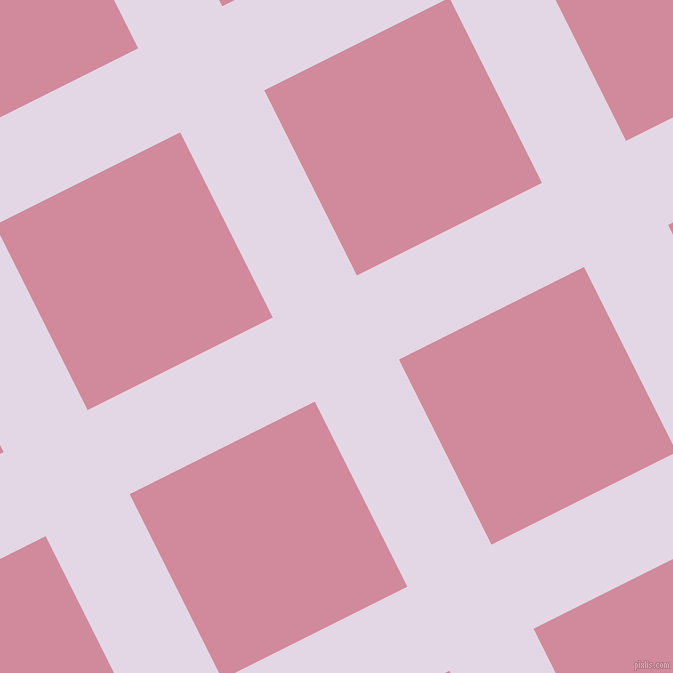 27/117 degree angle diagonal checkered chequered lines, 94 pixel lines width, 207 pixel square size, Snuff and Can Can plaid checkered seamless tileable