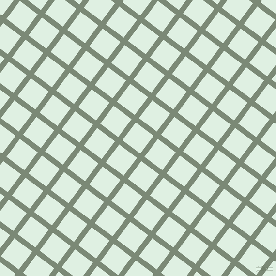 53/143 degree angle diagonal checkered chequered lines, 11 pixel line width, 46 pixel square size, Spanish Green and Off Green plaid checkered seamless tileable