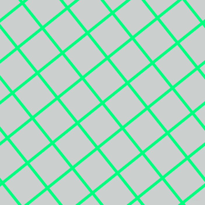 39/129 degree angle diagonal checkered chequered lines, 10 pixel lines width, 100 pixel square size, Spring Green and Geyser plaid checkered seamless tileable