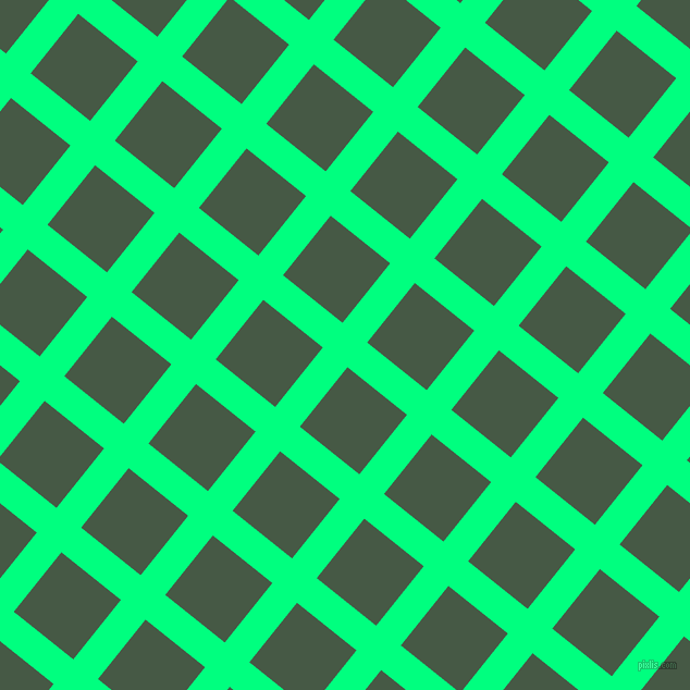 51/141 degree angle diagonal checkered chequered lines, 29 pixel lines width, 70 pixel square size, Spring Green and Grey-Asparagus plaid checkered seamless tileable
