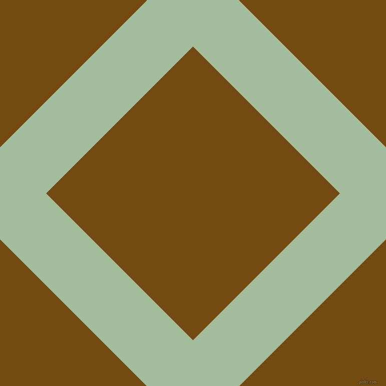 45/135 degree angle diagonal checkered chequered lines, 130 pixel line width, 415 pixel square size, Spring Rain and Raw Umber plaid checkered seamless tileable