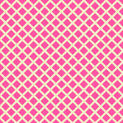 45/135 degree angle diagonal checkered chequered lines, 7 pixel lines width, 20 pixel square size, Spring Sun and Brilliant Rose plaid checkered seamless tileable