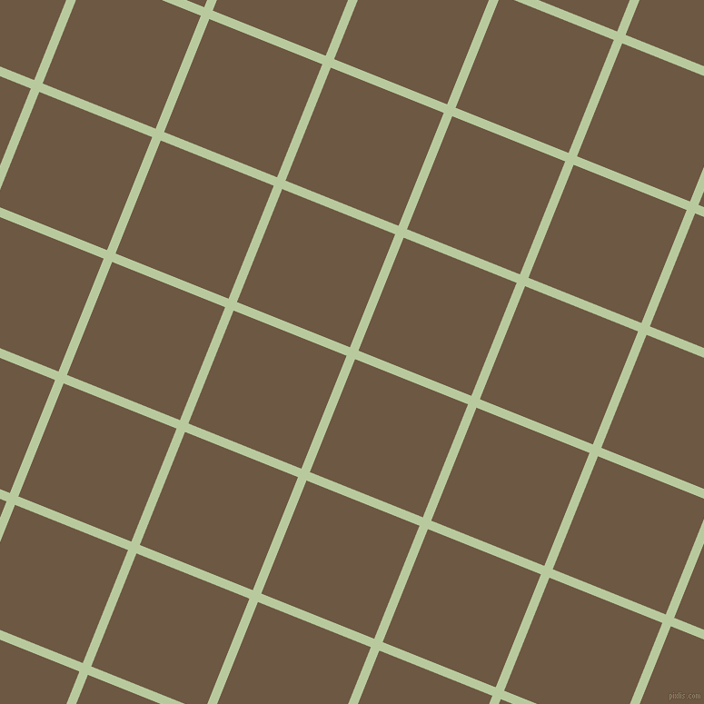 68/158 degree angle diagonal checkered chequered lines, 10 pixel lines width, 134 pixel square size, Sprout and Tobacco Brown plaid checkered seamless tileable