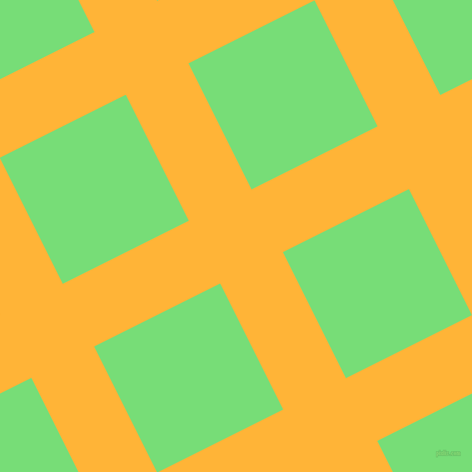 27/117 degree angle diagonal checkered chequered lines, 101 pixel lines width, 203 pixel square size, Supernova and Pastel Green plaid checkered seamless tileable