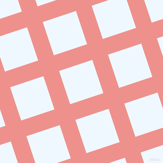 18/108 degree angle diagonal checkered chequered lines, 58 pixel line width, 123 pixel square size, Sweet Pink and Alice Blue plaid checkered seamless tileable