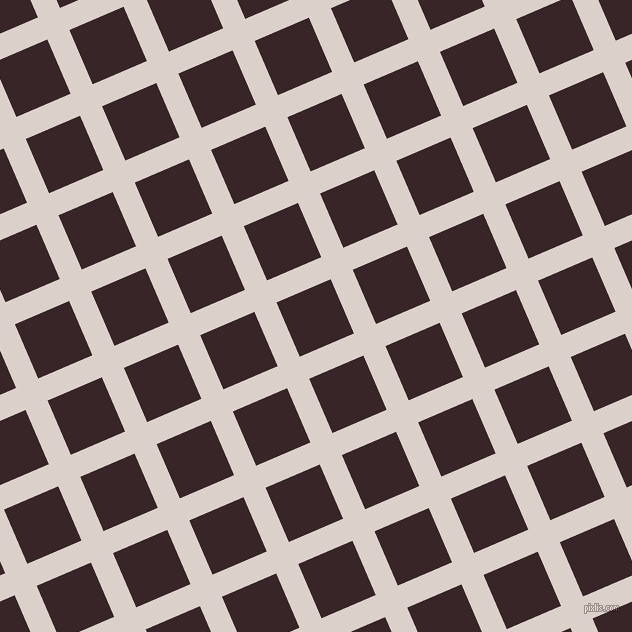 23/113 degree angle diagonal checkered chequered lines, 24 pixel lines width, 59 pixel square size, Swiss Coffee and Aubergine plaid checkered seamless tileable