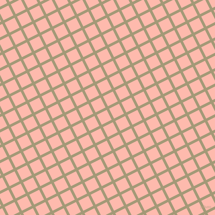 27/117 degree angle diagonal checkered chequered lines, 9 pixel lines width, 37 pixel square size, Tallow and Melon plaid checkered seamless tileable