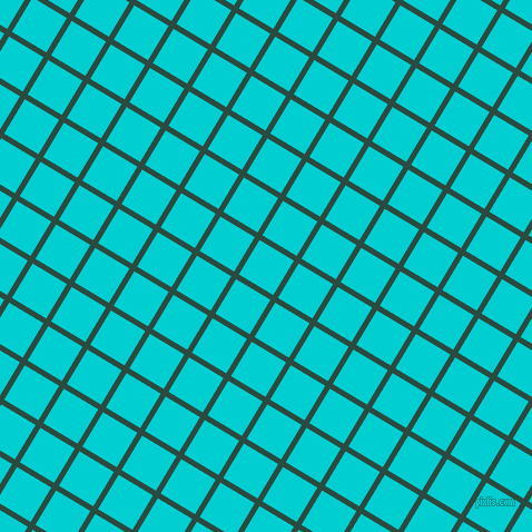 59/149 degree angle diagonal checkered chequered lines, 5 pixel line width, 36 pixel square size, Te Papa Green and Dark Turquoise plaid checkered seamless tileable