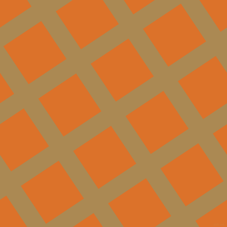 34/124 degree angle diagonal checkered chequered lines, 57 pixel lines width, 149 pixel square size, Teak and Tahiti Gold plaid checkered seamless tileable