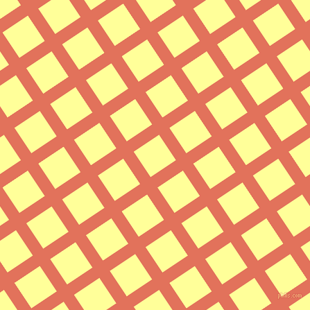 34/124 degree angle diagonal checkered chequered lines, 18 pixel line width, 44 pixel square size, Terra Cotta and Canary plaid checkered seamless tileable