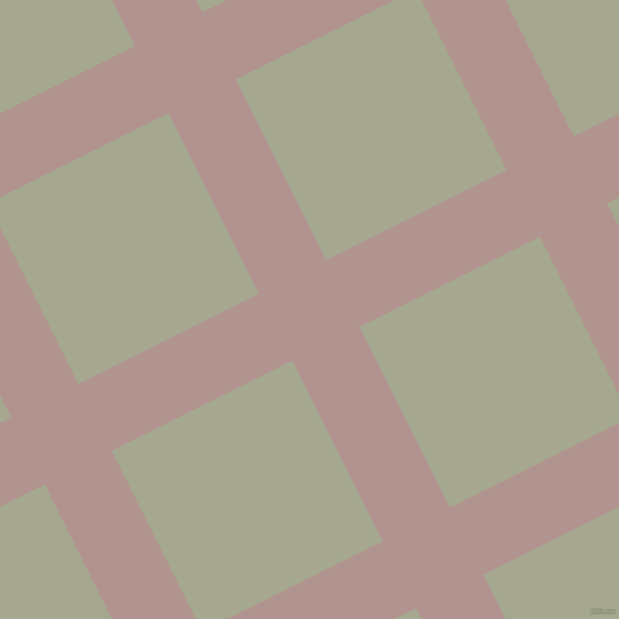 27/117 degree angle diagonal checkered chequered lines, 107 pixel line width, 288 pixel square size, Thatch and Bud plaid checkered seamless tileable