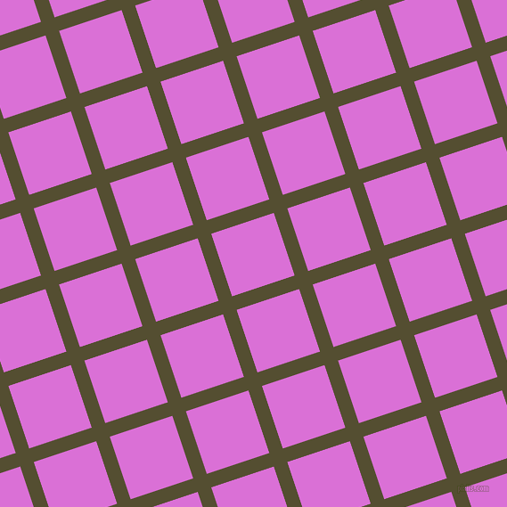 18/108 degree angle diagonal checkered chequered lines, 16 pixel line width, 74 pixel square size, Thatch Green and Orchid plaid checkered seamless tileable