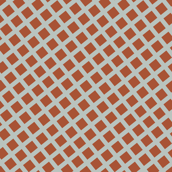 39/129 degree angle diagonal checkered chequered lines, 14 pixel line width, 29 pixel square size, Tiara and Orange Roughy plaid checkered seamless tileable
