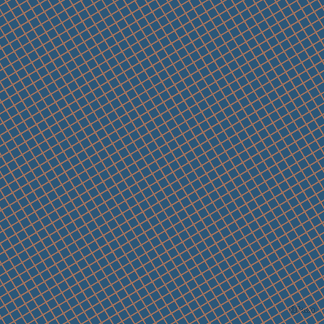 31/121 degree angle diagonal checkered chequered lines, 2 pixel line width, 11 pixel square size, Toast and Venice Blue plaid checkered seamless tileable