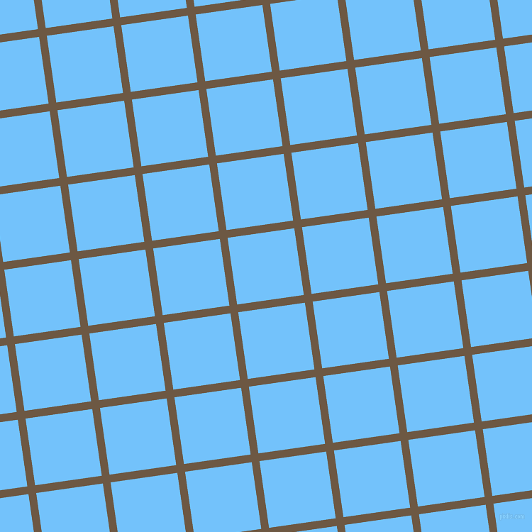 8/98 degree angle diagonal checkered chequered lines, 11 pixel line width, 95 pixel square size, Tobacco Brown and Maya Blue plaid checkered seamless tileable