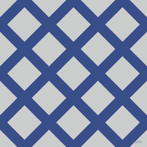 45/135 degree angle diagonal checkered chequered lines, 35 pixel line width, 84 pixel square size, Tory Blue and Iron plaid checkered seamless tileable