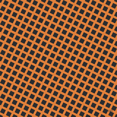63/153 degree angle diagonal checkered chequered lines, 9 pixel lines width, 18 pixel square size, Tree Poppy and Bunker plaid checkered seamless tileable