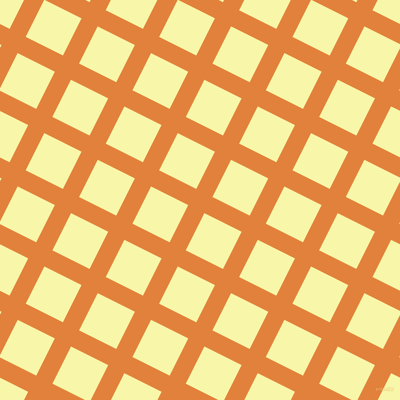 63/153 degree angle diagonal checkered chequered lines, 36 pixel line width, 83 pixel square size, Tree Poppy and Shalimar plaid checkered seamless tileable