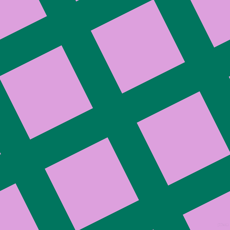 27/117 degree angle diagonal checkered chequered lines, 105 pixel lines width, 226 pixel square size, Tropical Rain Forest and Plum plaid checkered seamless tileable