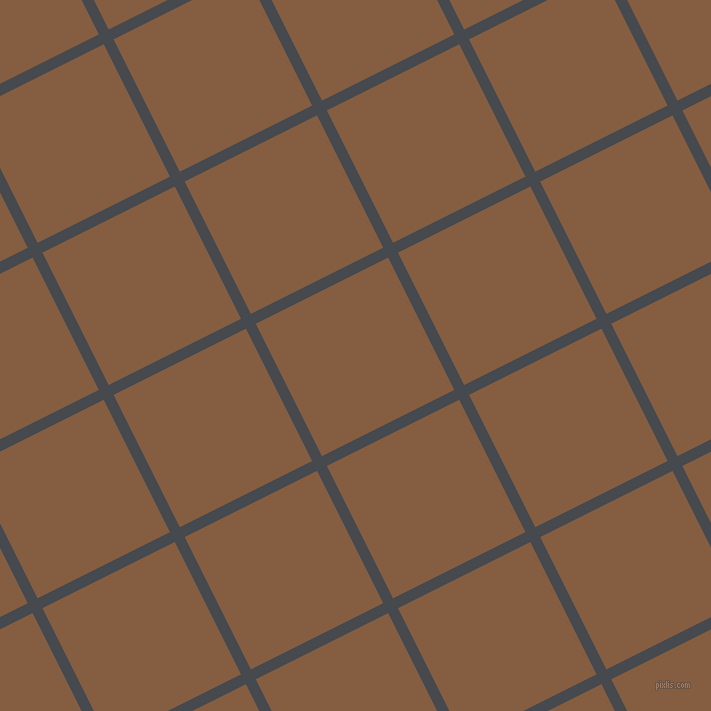 27/117 degree angle diagonal checkered chequered lines, 11 pixel lines width, 148 pixel square size, Tuna and Dark Wood plaid checkered seamless tileable
