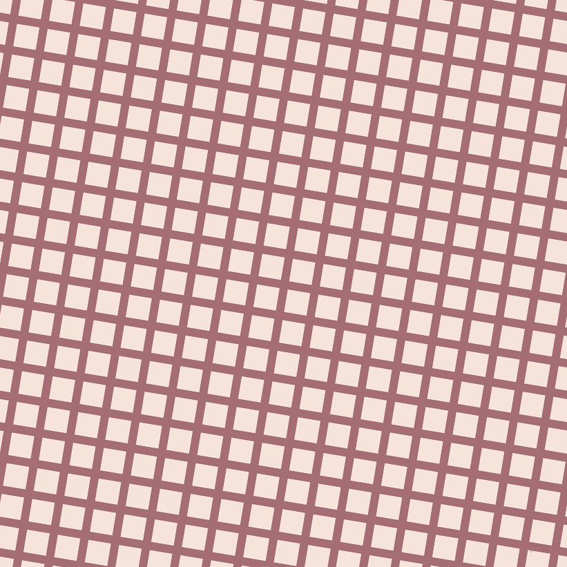 81/171 degree angle diagonal checkered chequered lines, 12 pixel line width, 33 pixel square size, Turkish Rose and Provincial Pink plaid checkered seamless tileable