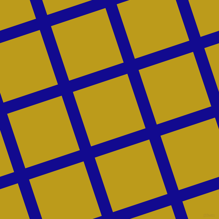 18/108 degree angle diagonal checkered chequered lines, 38 pixel line width, 185 pixel square sizeUltramarine and Buddha Gold plaid checkered seamless tileable
