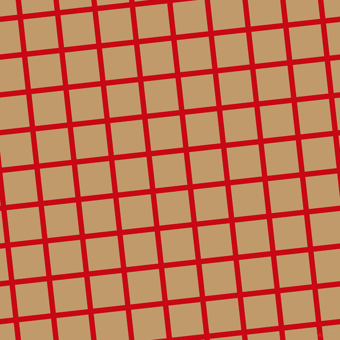 6/96 degree angle diagonal checkered chequered lines, 11 pixel lines width, 66 pixel square size, Venetian Red and Fallow plaid checkered seamless tileable