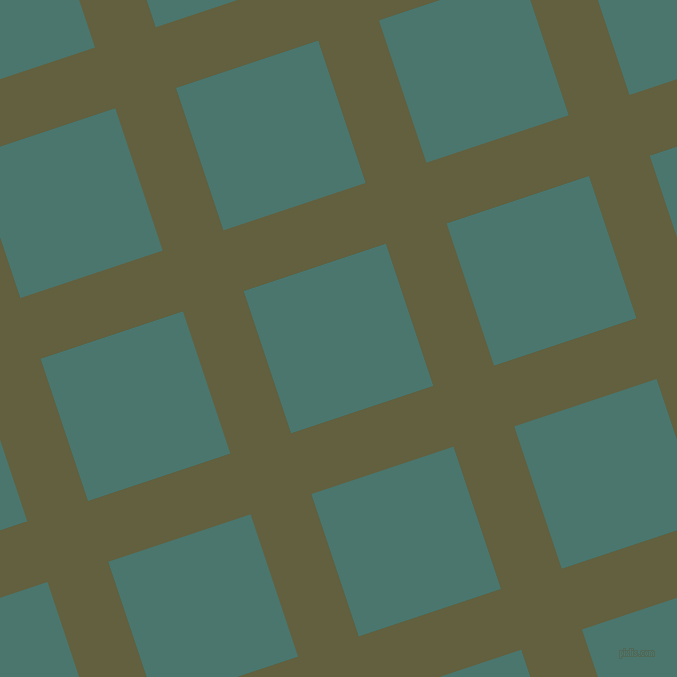 18/108 degree angle diagonal checkered chequered lines, 64 pixel lines width, 150 pixel square size, Verdigris and Dark Green Copper plaid checkered seamless tileable
