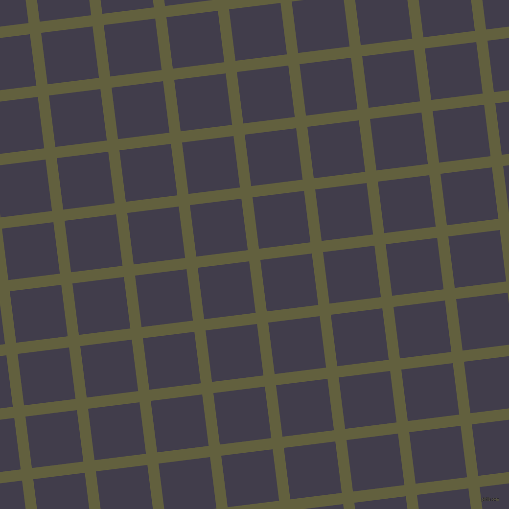 7/97 degree angle diagonal checkered chequered lines, 23 pixel line width, 106 pixel square size, Verdigris and Grape plaid checkered seamless tileable