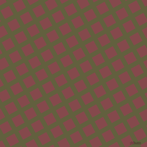 29/119 degree angle diagonal checkered chequered lines, 15 pixel line width, 32 pixel square size, Verdigris and Solid Pink plaid checkered seamless tileable