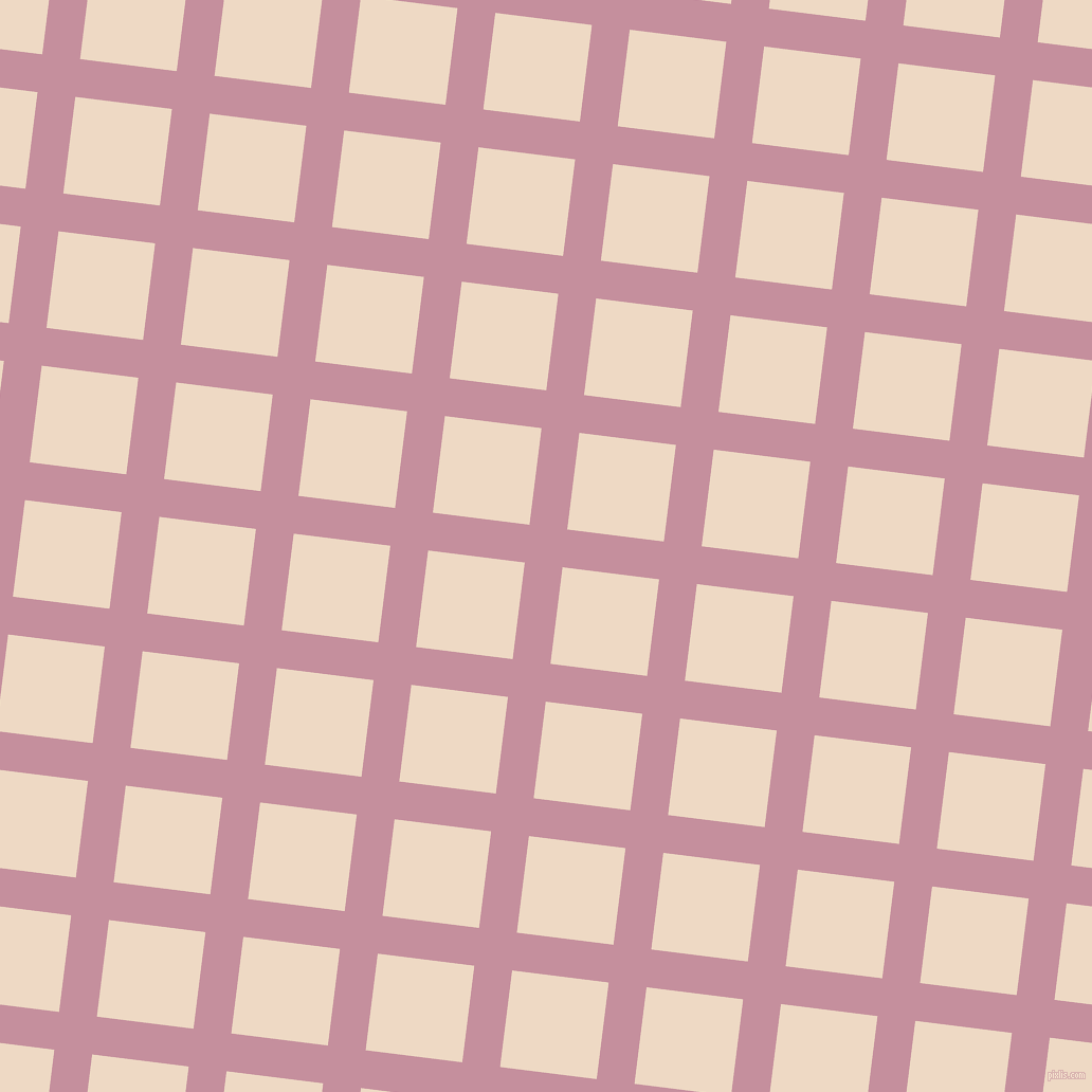 83/173 degree angle diagonal checkered chequered lines, 36 pixel lines width, 92 pixel square size, Viola and Almond plaid checkered seamless tileable