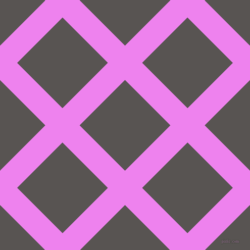 45/135 degree angle diagonal checkered chequered lines, 48 pixel lines width, 127 pixel square size, Violet and Tundora plaid checkered seamless tileable