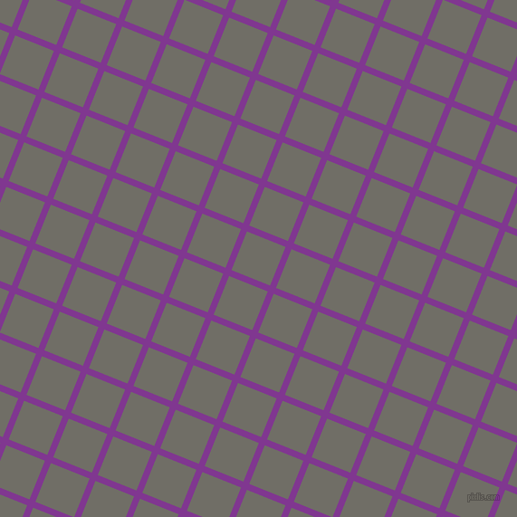 68/158 degree angle diagonal checkered chequered lines, 7 pixel line width, 46 pixel square size, Vivid Violet and Ironside Grey plaid checkered seamless tileable