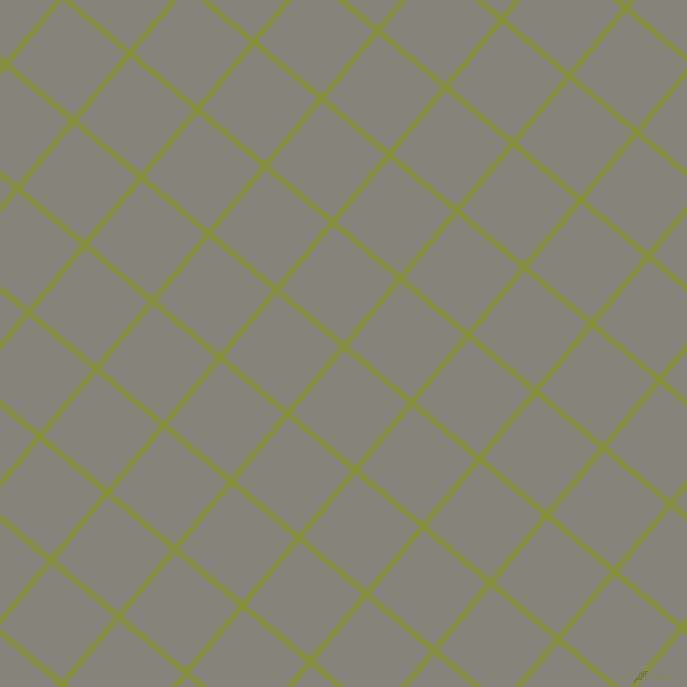 50/140 degree angle diagonal checkered chequered lines, 5 pixel line width, 83 pixel square size, Wasabi and Friar Grey plaid checkered seamless tileable