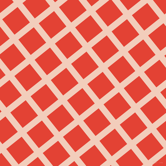 39/129 degree angle diagonal checkered chequered lines, 20 pixel lines width, 63 pixel square size, Watusi and Cinnabar plaid checkered seamless tileable