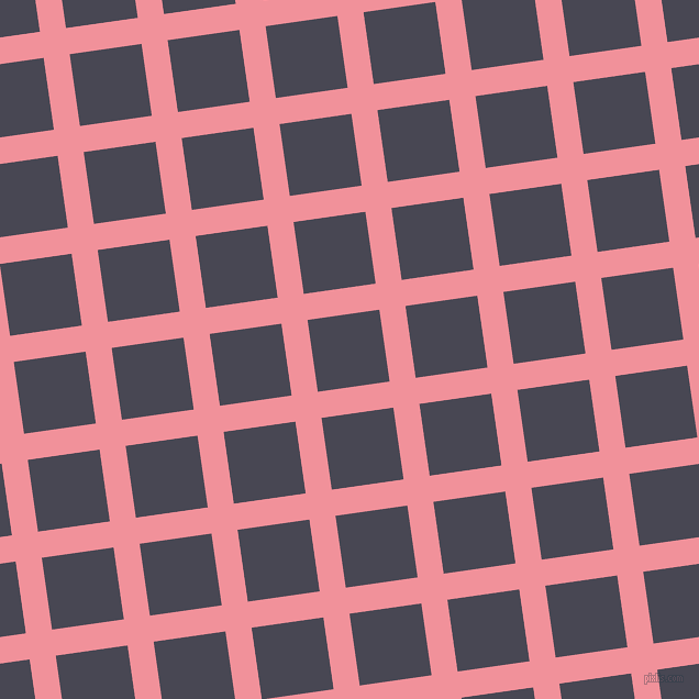 8/98 degree angle diagonal checkered chequered lines, 24 pixel lines width, 66 pixel square size, Wewak and Gun Powder plaid checkered seamless tileable
