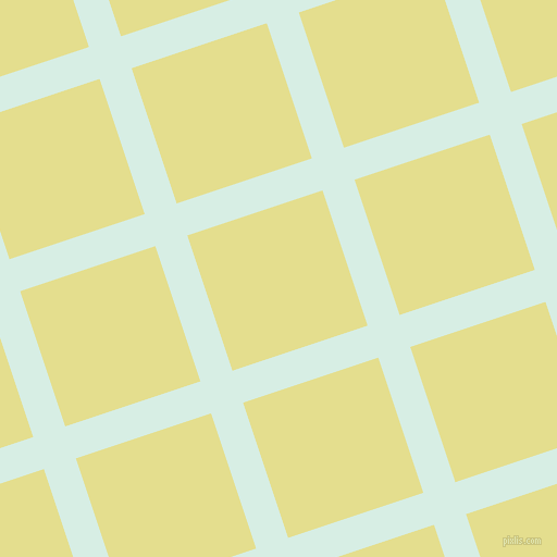 18/108 degree angle diagonal checkered chequered lines, 31 pixel line width, 131 pixel square size, White Ice and Primrose plaid checkered seamless tileable