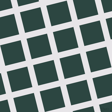 14/104 degree angle diagonal checkered chequered lines, 24 pixel line width, 84 pixel square size, White Lilac and Gable Green plaid checkered seamless tileable