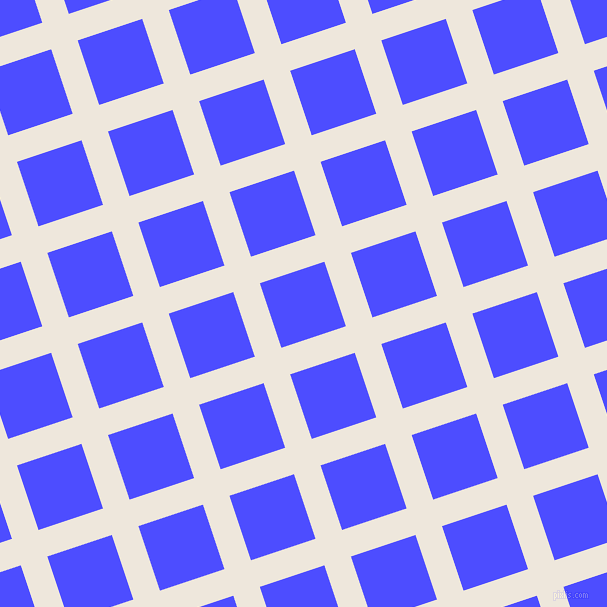 18/108 degree angle diagonal checkered chequered lines, 28 pixel lines width, 68 pixel square size, White Linen and Neon Blue plaid checkered seamless tileable