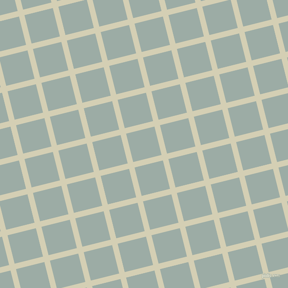 14/104 degree angle diagonal checkered chequered lines, 11 pixel line width, 57 pixel square size, White Rock and Tower Grey plaid checkered seamless tileable