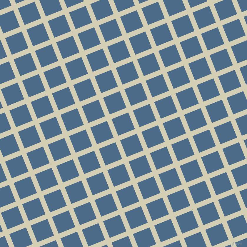22/112 degree angle diagonal checkered chequered lines, 17 pixel line width, 61 pixel square size, White Rock and Wedgewood plaid checkered seamless tileable